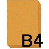アスクル カラーペーパー B4 オレンジ 1セット(500枚×2冊入)