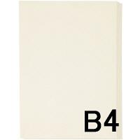 アスクル カラーペーパー B4 アイボリー 1セット(500枚×2冊入)