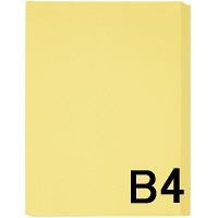 アスクル カラーペーパー B4 クリーム 1セット(500枚×2冊入)