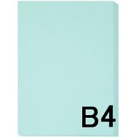 アスクル カラーペーパー B4 ライトブルー 1セット(500枚×2冊入)
