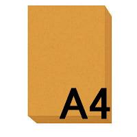 アスクル カラーペーパー A4 オレンジ 1箱(500枚×10冊入)