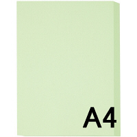 アスクル カラーペーパー A4 ライトグリーン 1箱(500枚×10冊入)