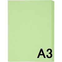 アスクル カラーペーパー A3 グリーン 1箱(500枚×5冊入)