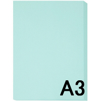アスクル カラーペーパー A3 ライトブルー 1箱 (500枚×5冊入)