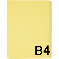 アスクル カラーペーパー B4 クリーム 1箱(500枚×5冊入)