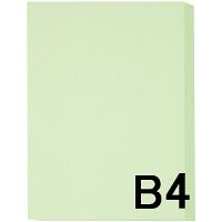 アスクル カラーペーパー B4 ライトグリーン 1箱(500枚×5冊入)