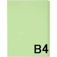 アスクル カラーペーパー B4 グリーン 1箱(500枚×5冊入)