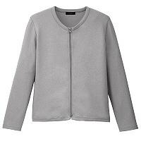 D-PHASE(ディーフェイズ) ダブルジップ 綿カーディガン 女性用 長袖 グレー M ASDPS01GYM