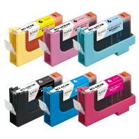 プレジール 互換インク PLE-C066P 1パック(6色入)(キヤノン BCI-6/6MP互換) (取寄品)