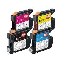 プレジール互換インク PLE-ZBR104P 1パック(大容量4色入) ブラザーLC10-4PK互換 (取寄品)