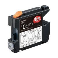 プレジール 互換インク  PLE-ZBR10B ブラック(大容量)(ブラザー LC10BK互換) (取寄品)