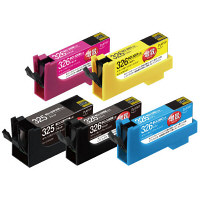 プレジール互換インク PLE-ZCB3265P 1パック(大容量5色入) BCI-326+325/5MP互換 (取寄品)