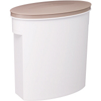お米袋そのまま保存ケース5kg ホワイト I-327-1WT 伊勢藤 米 保存容器