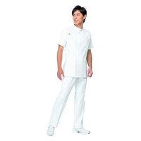 ルコックスポルティフ メンズジャケット(サイドファスナー 医務衣) UQM1001 ホワイト M