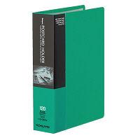 コクヨ ポストカードホルダー 固定式 A6-S 60ポケット 緑 ハセ-30NG 1冊(直送品)