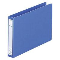 リヒトラブ パンチレスファイル B6E 藍 F-373-9 1袋(3冊入) (直送品)