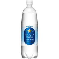 ポッカサッポロフード&ビバレッジ おいしい炭酸水 1L 1箱(12本入)