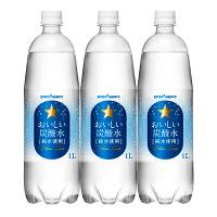 おいしい炭酸水 純水使用 ペット 1L