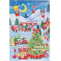 クリスマスカード 気球と月