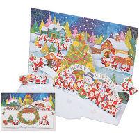 クリスマスカード リース 立体