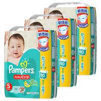 パンパース おむつ パンツ S(4~8kg) 1箱 3パック(240枚入) さらさらパンツ ウルトラジャンボ オムツ P&G