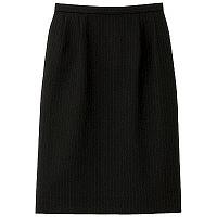 BON(ボン) 事務服 小さいサイズ マニッシュライン ストレッチタイトスカート 7号 ブラック×ブルー HW2240A
