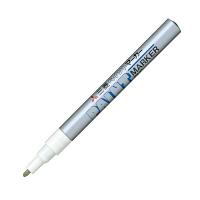 三菱鉛筆(uni) ペイントマーカー 細字 銀 油性マーカー PX-21 3本 (直送品)