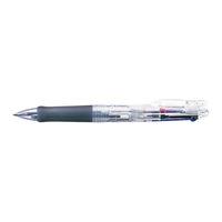ゼブラ ボールペン クリップオンG 3色 透明 B3A3-C 1セット(2本入) (直送品)