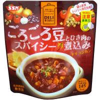 ごろごろ豆とひき肉のスパイシー煮込み