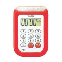タニタ 防水大音量 タイマー TD-377 レッド 8644710 EBM (取寄品)