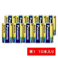 パナソニック アルカリ乾電池 エボルタ 単1形 LR20EJN/10S 1パック(10本入)