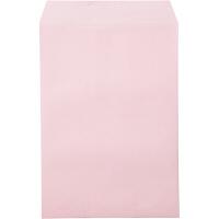 ムトウユニパック ナチュラルカラー封筒 角2(A4) ピンク テープ付 500枚(100枚×5袋)