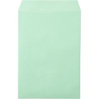ムトウユニパック ナチュラルカラー封筒 角2(A4) グリーン テープ付 500枚(100枚×5袋)