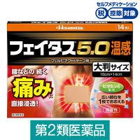 【第2類医薬品】フェイタス5.0 温感大判サイズ 14枚 久光製薬★控除★