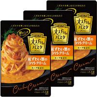 ハインツ 大人むけのパスタ 紅ずわい蟹のトマトクリーム スープ仕立て 180g 1セット(3個入)
