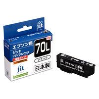 ジット リサイクルインク JIT-E70BL ブラック(大容量)(エプソン ICBK70L互換) IC70シリーズ