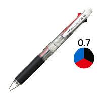 三菱鉛筆(uni) ジェットストリーム 3色ボールペン 0.7mm SXE3-400-07 透明軸 10本