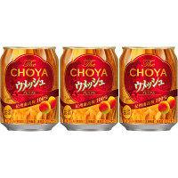 チョーヤ ウメッシュ プレーンソーダ 250ml 1セット(3缶)