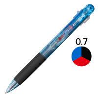 トンボ鉛筆 3色ボールペンリポーター3 透明ブルー BCーTRC40 1箱(10本入)