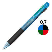 トンボ鉛筆 4色ボールペンリポーター4 透明ブルー BCーFRC40 1箱(10本入)
