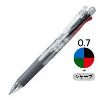 多機能ボールペン クリップ-オンマルチ500 透明軸 4色+シャープ 10本 B4SA1-C ゼブラ