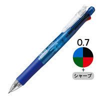 多機能ボールペン クリップ-オンマルチ500 青軸 4色0.7mmボールペン+シャープ 10本 B4SA1-BL ゼブラ