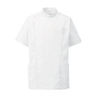 KAZEN メンズジャケット半袖(医務衣 メンズケーシー) 医療白衣 ホワイト LL 253-20D
