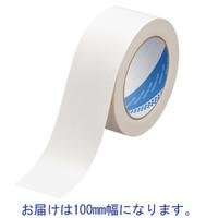 寺岡製作所 カラー布テープ No.1535 0.20mm厚 白 幅100mm×長さ25m巻 1巻
