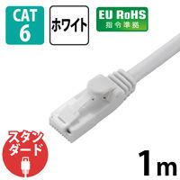エレコム カテゴリー6対応 Gigabit LANケーブル 1m ホワイト LD-GP/WH1/C
