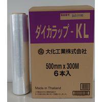 ダイカラップ 14μm 500mm×300m巻 透明 DIWーKL500 1箱(6本入) 大化工業