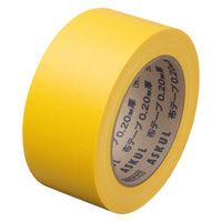 「現場のチカラ」 カラー布テープ No.8015 0.20mm厚 50mm×25m巻 黄 1セット(5巻:1巻×5) アスクル