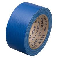 【ガムテープ】「現場のチカラ」 カラー布テープ 0.20mm厚 50mm×25m 青 アスクル 1セット(5巻入)