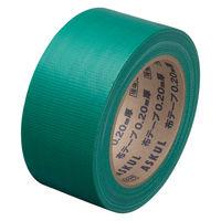 【ガムテープ】「現場のチカラ」 カラー布テープ 0.20mm厚 50mm×25m 緑 アスクル 1箱(30巻入)
