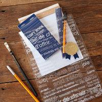 カフェオレOPP袋 ギフトバッグ-3 L 白・透明 1袋(50枚入)ラッピング用品 ヘッズ